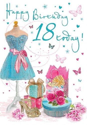 Happy Birthday 18 Today Shoes / Dress C75